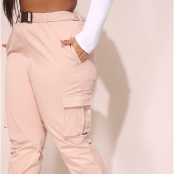 provide large selection of quality products prevalent Pretty Little Thing Utility Buckle Belt Joggers NWT
